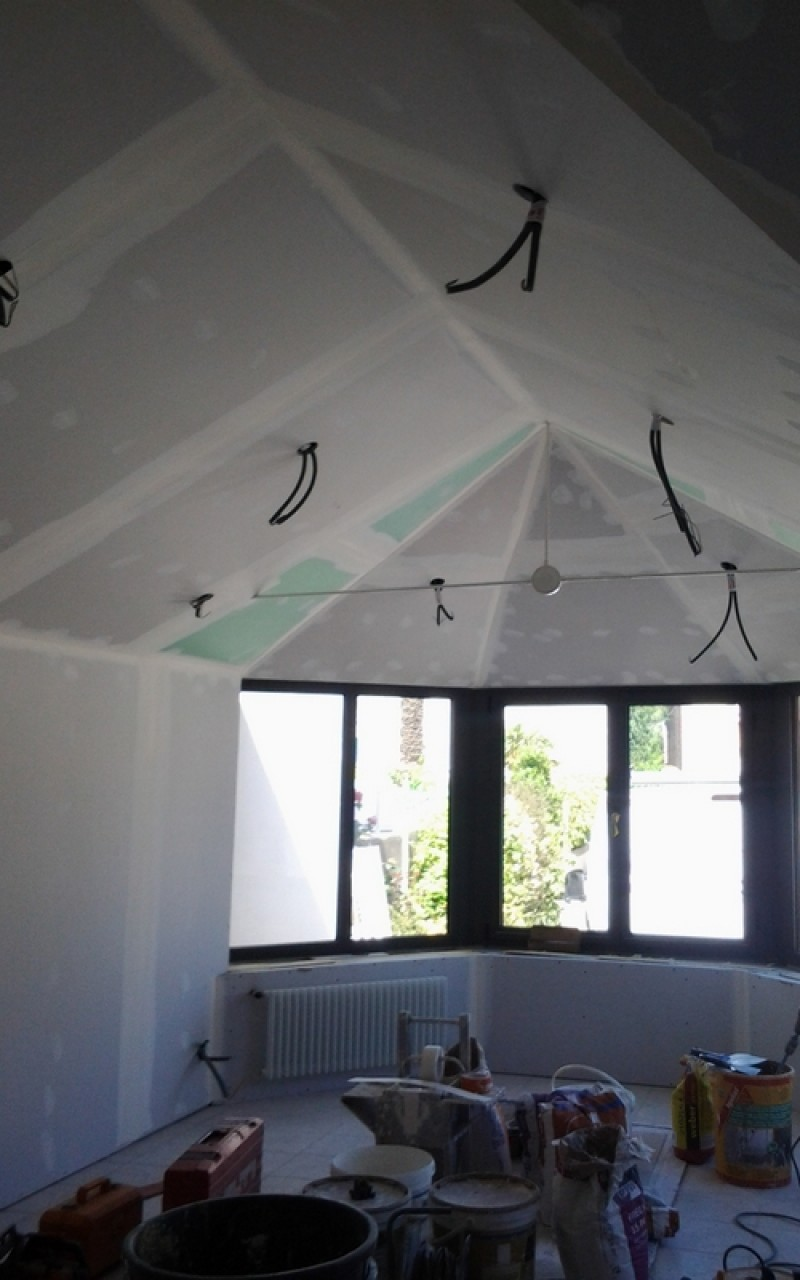 Plafond pièce de vie
