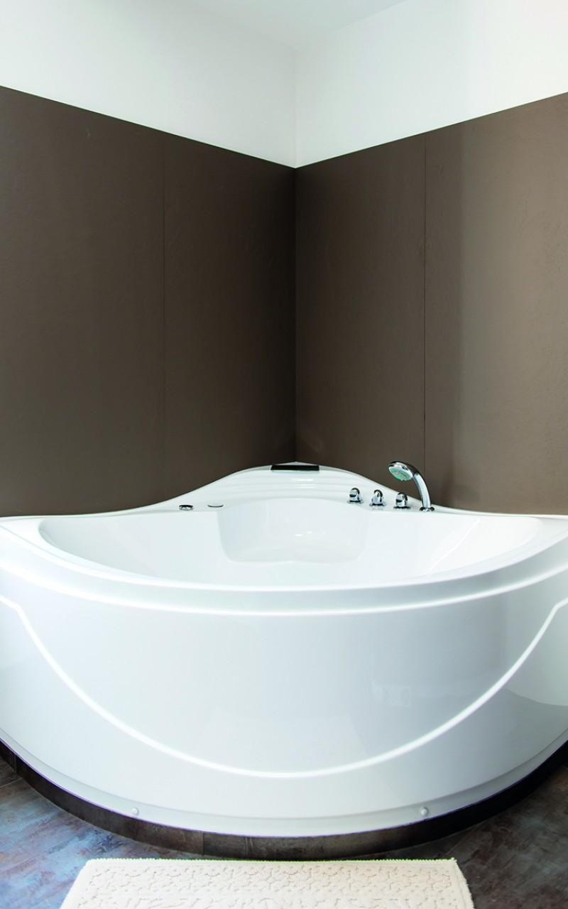 Mise en scène d'une baignoire