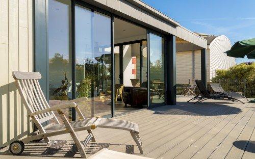Terrasse bois composite  Aménagement extérieur  La Hénonnaise (22